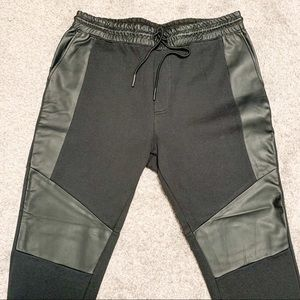 NWOT On The Byas Faux Leather Sweatpant Joggers L